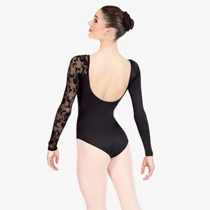 Natalie Dancewear Tops - Natalie lace long sleeve dance leotard